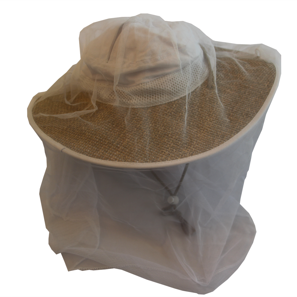 Bughat White Original ​Gardening Hat Net Out